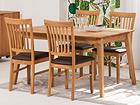 Tammi ruokapöytä GENF + 4 tuolia RONNY EC-119702