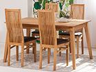 Tammi ruokapöytä GENF  + 4 tuolia SANDRA