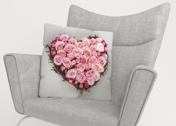 Koristetyynyliina HEART OF LOVE 45x45 cm ED-123878