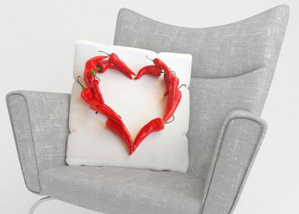 Koristetyynyliina HOT HEART 40x40 cm ED-123967