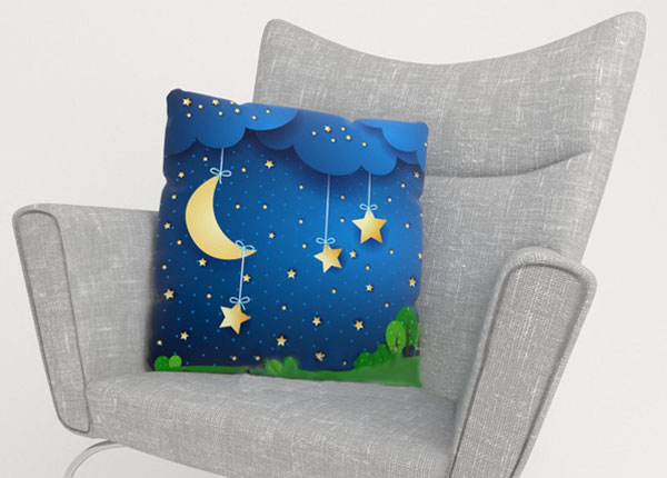 Koristetyynyliina MOON AND STARS 40x60 cm