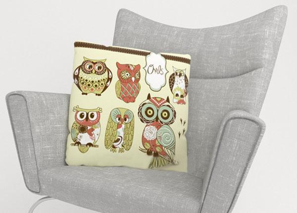 Koristetyynyliina OWL 2 50x50 cm