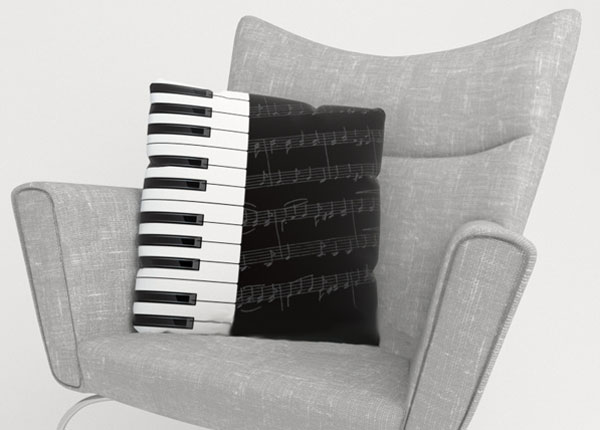 Koristetyynyliina PIANO KEYS 45x45 cm