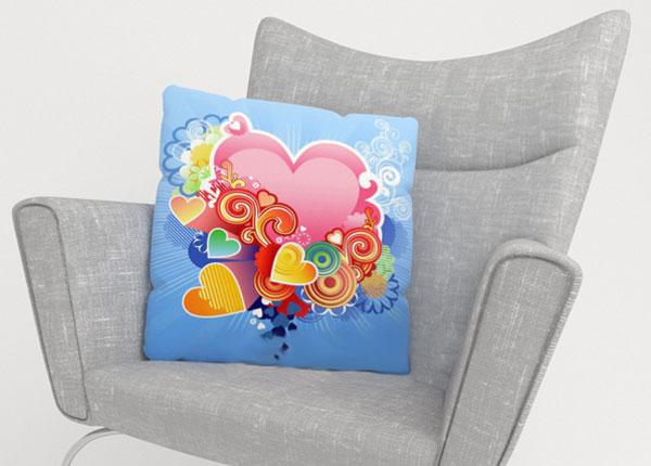 Koristetyynyliina PINK HEART 45x45 cm ED-124213