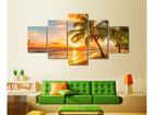 Viisiosainen seinätaulu PALM BEACH 110x60 cm ED-124287