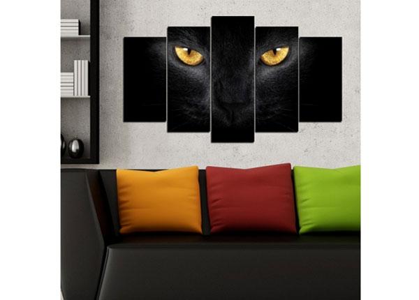 Viisiosainen seinätaulu CATS 100x60 cm ED-124459