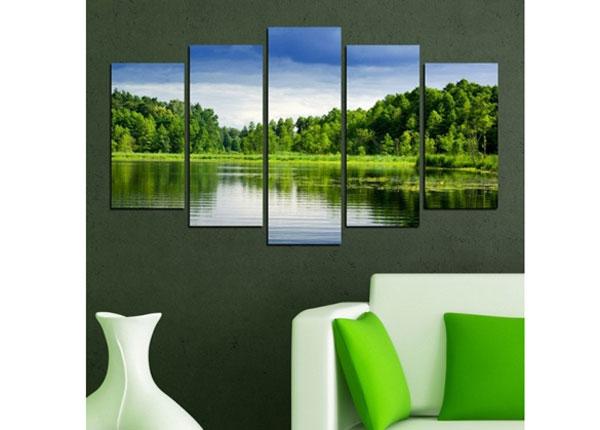 Viisiosainen seinätaulu SEASCAPE 100x60 cm