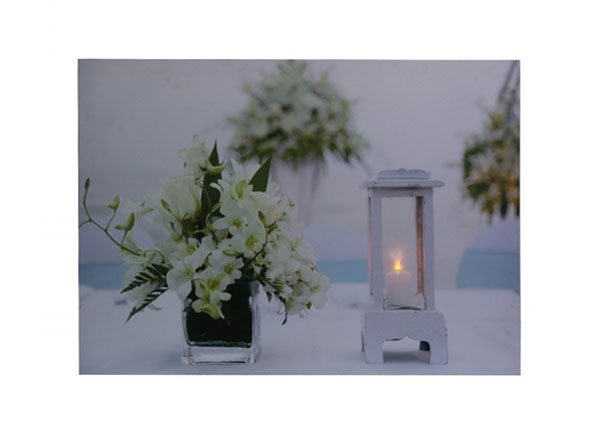 LED taulu FLOWERS & LATERN