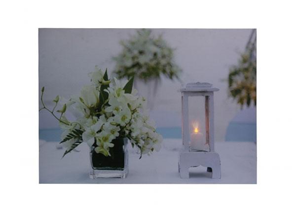 LED taulu FLOWERS & LATERN 50x70 cm ED-124468