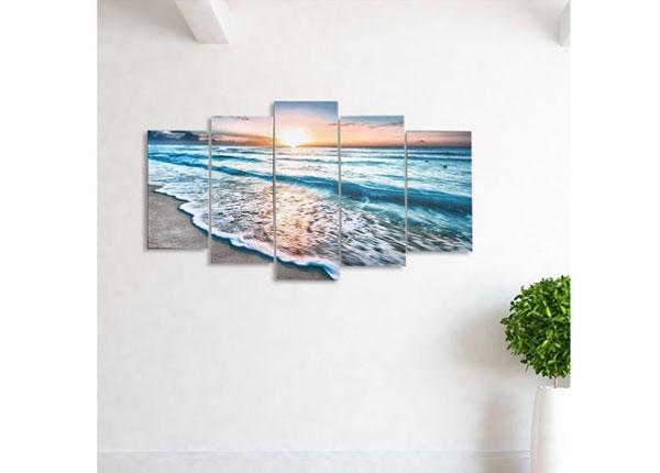 Viisiosainen seinätaulu HOLIDAY PARADISE 100x60 cm ED-124470