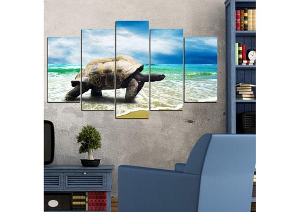 Viisiosainen seinätaulu TURTLE 100x60 cm