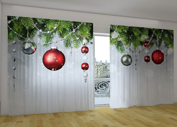Puolipimentävä verho CHRISTMAS DECORATIONS 360x230 cm ED-124662
