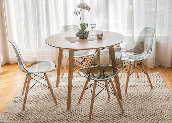 Ruokailuryhmä pöytä + 4 tuolia LEON EV-124702