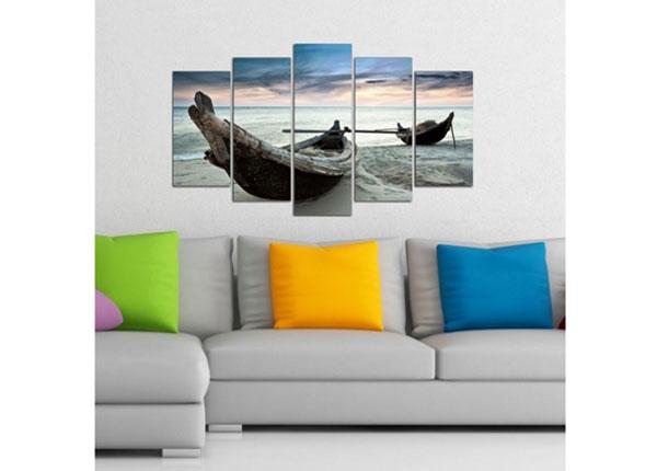 Viisiosainen seinätaulu BOAT 4, 100x60 cm ED-124739