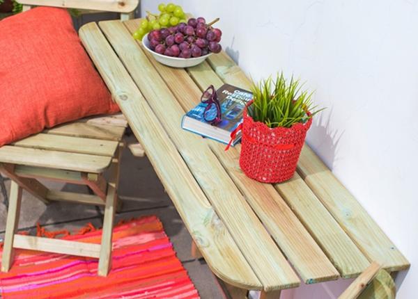 Puutarhapöytä seinälle TN-125362