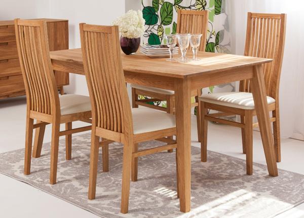 Tammi ruokapöytä GENF 160x90 cm + 4 tuolia SANDRA EC-125536