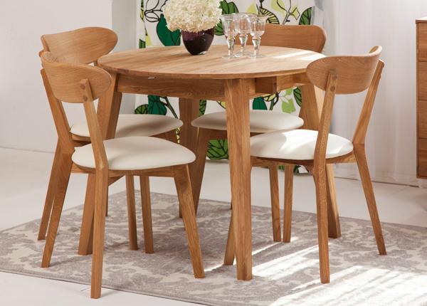 Tammi jatkettava ruokapöytä BASEL 110-160x110 cm + 4 tuolia IRMA EC-125607