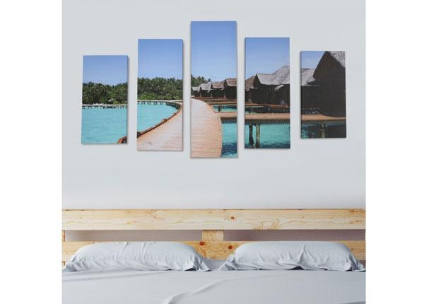 Viisiosainen seinätaulu HOLIDAY RESORT 160x60 cm ED-125691