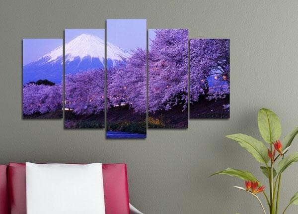 Viisiosainen seinätaulu TREE 2, 100x60 cm ED-125837