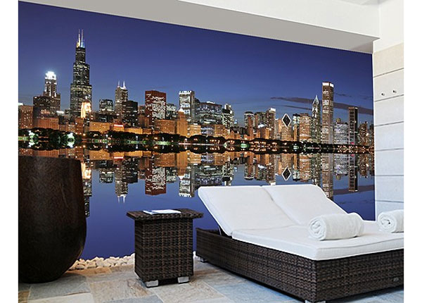 Itseliimautuva kuvatapetti CHICAGO REFLECTION 270x360 cm ED-125961