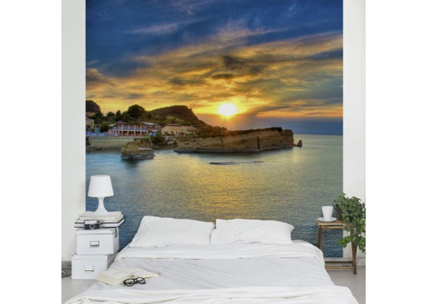 Fleece-kuvatapetti SUNSET OVER CORFU 240x240 cm ED-125962