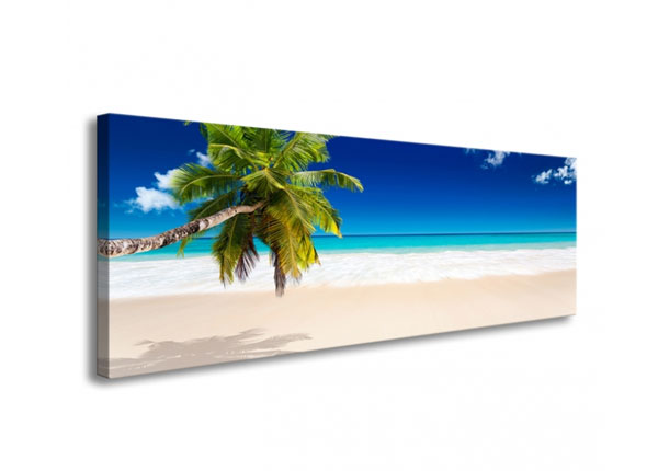 Seinätaulu TROPICAL BEACH WITH PALM TREE 120x40 cm ED-126287