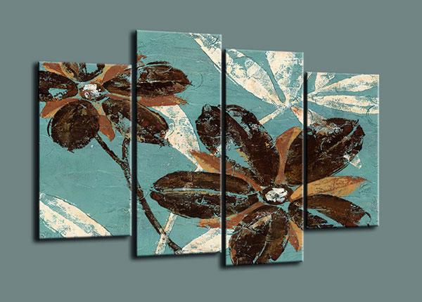 Neljäosainen seinätaulu FLOWERS 130x80 cm ED-126292