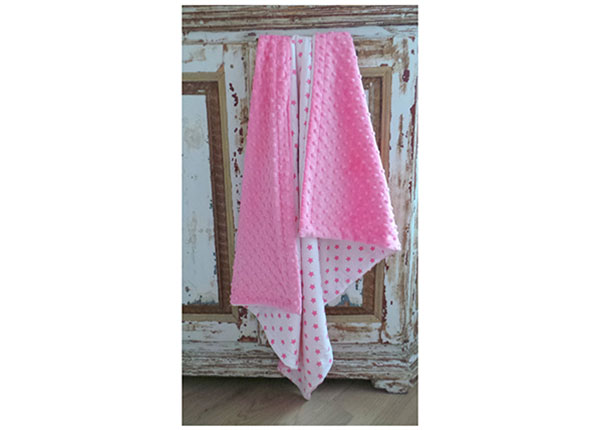 Vauvapeitto PINK STAR 75x90 cm MD-126662