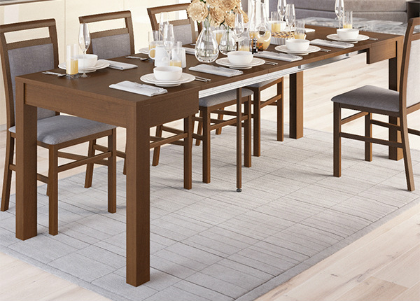 Jatkettava ruokapöytä 80x80-230 cm TF-127451