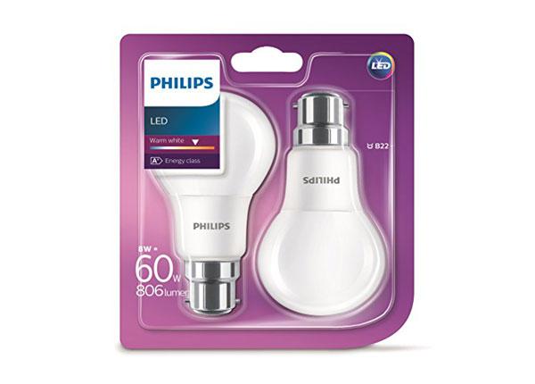 LED lamput 8 W, 2 kpl EW-127900