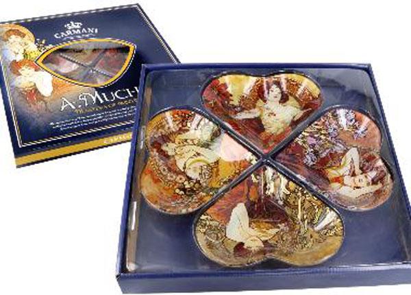 Sydämenmuotoiset lautaset A.MUCHA MO-128725