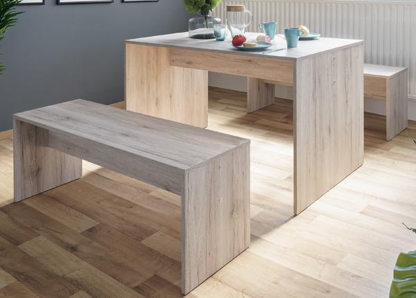 Ruokapöytä 118x78 cm + 2 penkkiä CM-128812
