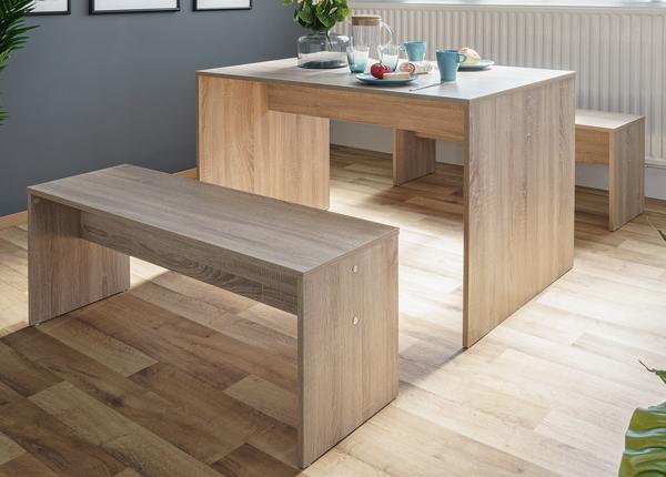 Ruokapöytä 118x78 cm + 2 penkkiä CM-128813