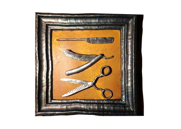 Takorauta seinätaulu PARTURI 37x37 cm