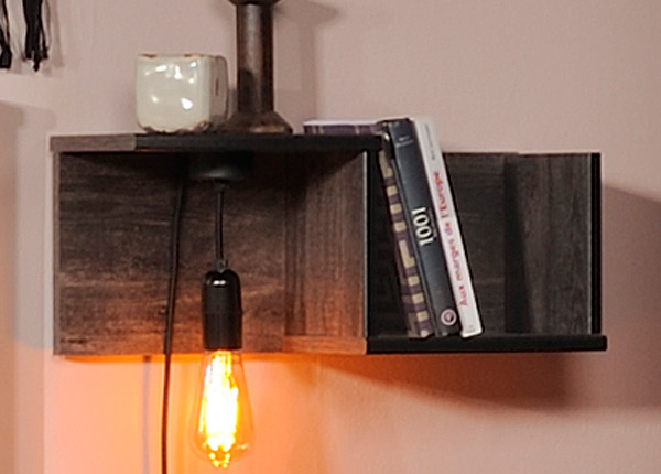 Seinähylly LED valaistuksella BELLEVILLE MA-128947