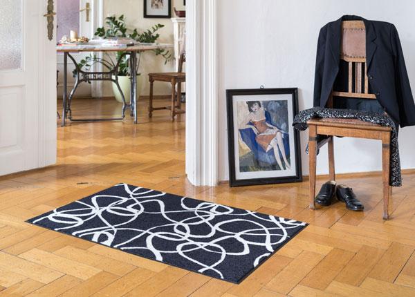 Matto INK LINES BLACK WHITE 75x120 cm A5-129659