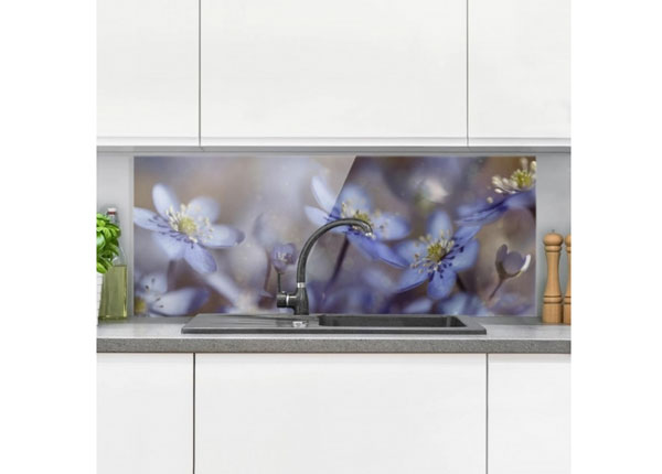 Kuvalasi/ välitilan lasi ANEMONES IN BLUE 40x60 cm