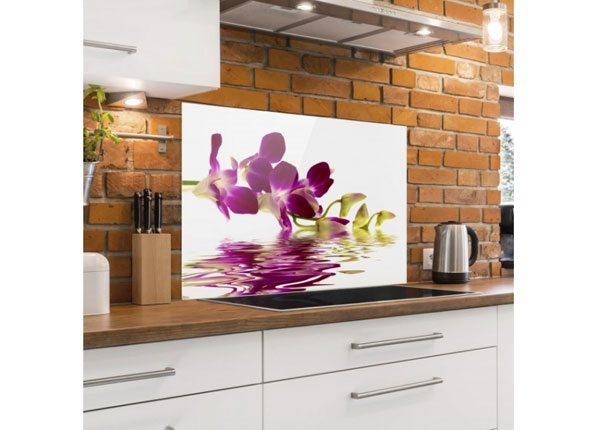 Kuvalasi/ välitilan lasi PINK ORCHID WATERS 40x100 cm ED-130121