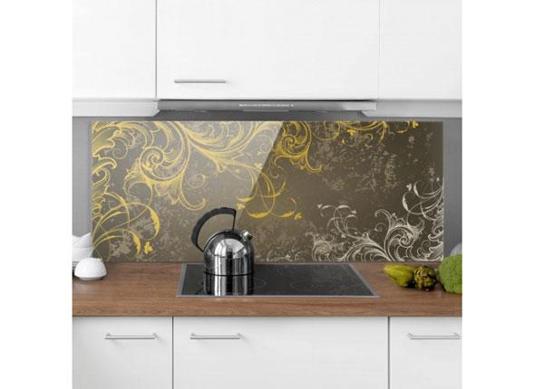 Kuvalasi/ välitilan lasi FLOURISHES IN GOLD AND SILVER 50x125 cm ED-130207