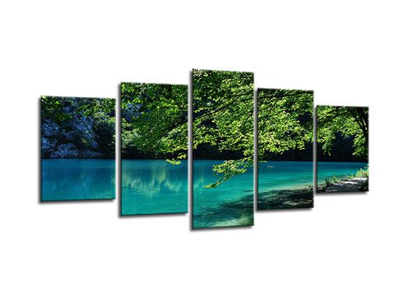 Viisiosainen seinätaulu LAKE NATURE 100x50 cm ED-130556