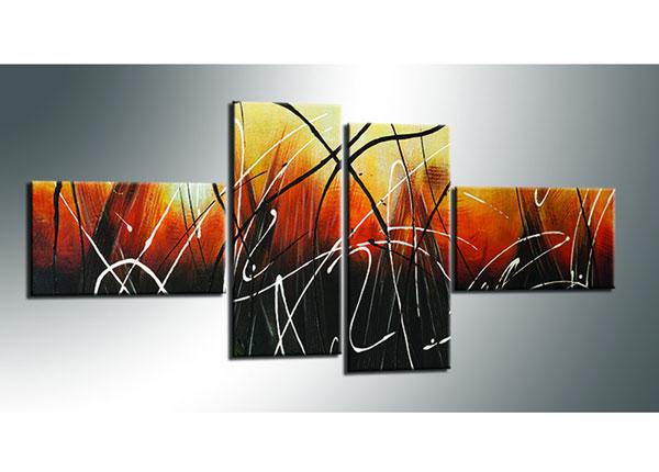 Neliosainen seinätaulu ABSTRAKT 70x160 cm ED-130558