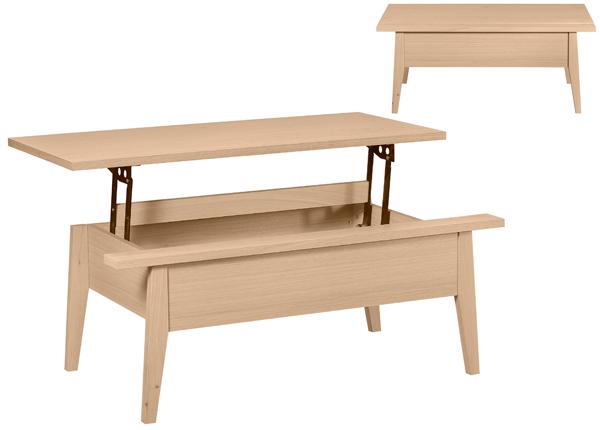 Sohvapöytä ylösnostettavalla kansilevyllä LANA 110x60 cm MA-130886