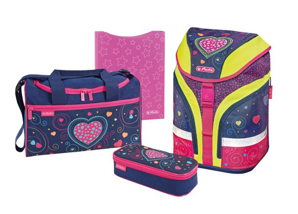 Selkäreppusetti HERLITZ MOTION PLUS HEARTS BB-131009