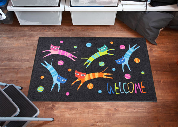 Matto JUMPING CATS WELCOME 75x120 cm A5-131024