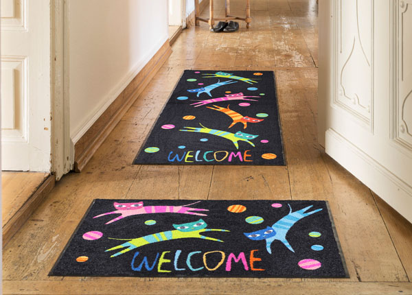 Matto JUMPING CATS WELCOME 75x190 cm A5-131025