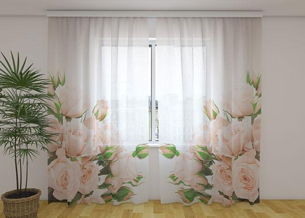 Sifonki-kuvaverho CREAM ROSES 240x220 cm ED-131443