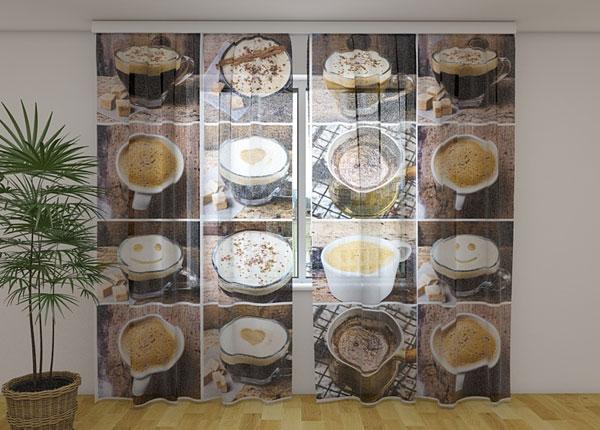 Sifonki-kuvaverho FLAVORED COFFEE 240x220 cm ED-131448