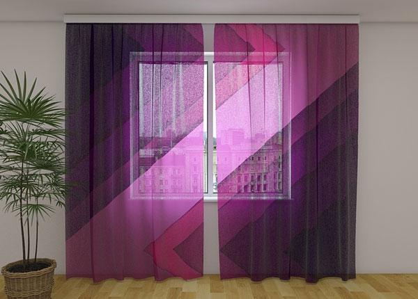 Sifonki-kuvaverho PRUPLE LINES 240x220 cm ED-131468