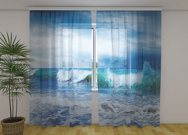 Sifonki-kuvaverho SEA 240x220 cm ED-131501