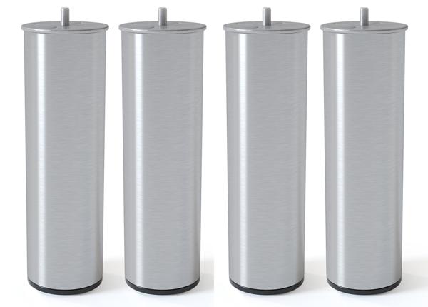 Silinterimuotoinen metallijalka, harjattu hopeansävy 20 cm SW-132620